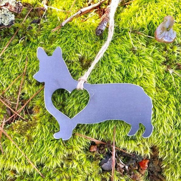 Corgi Metal Ornament