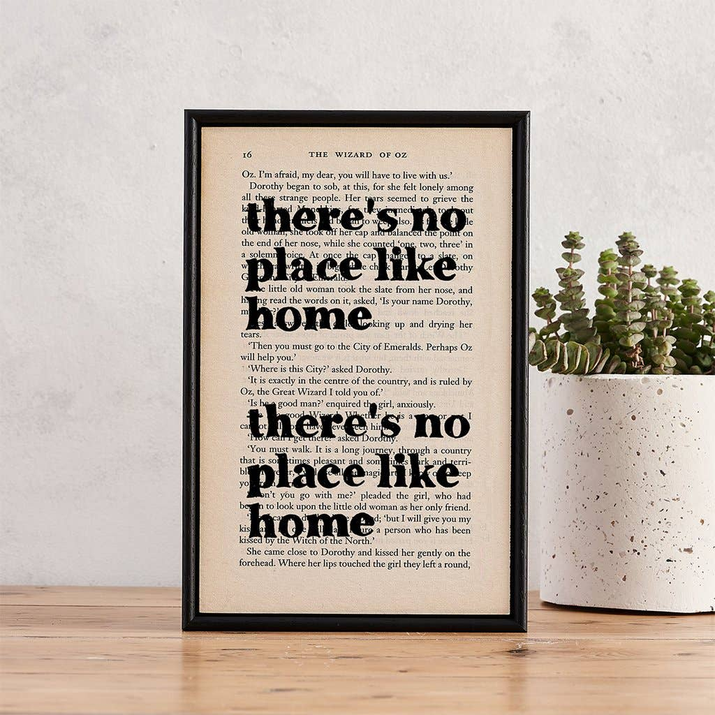 Framed Art - Wizard of Oz, There's no place like home