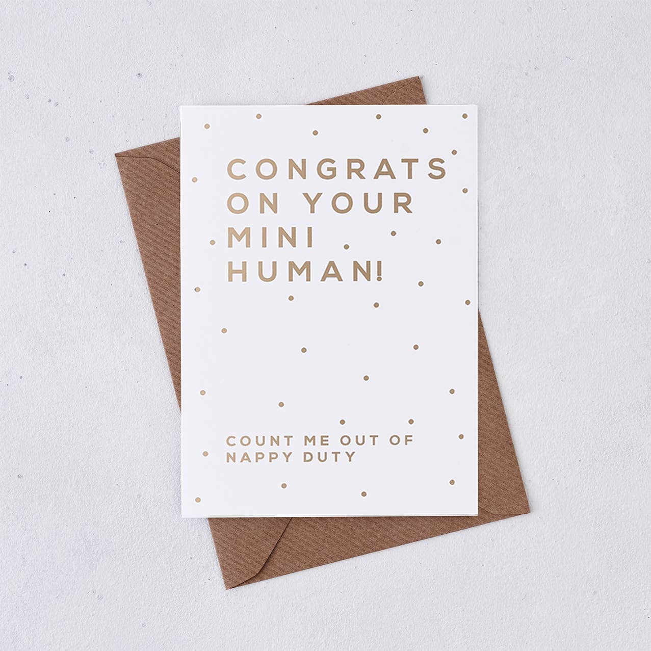 Greeting card - Congrats on your mini human