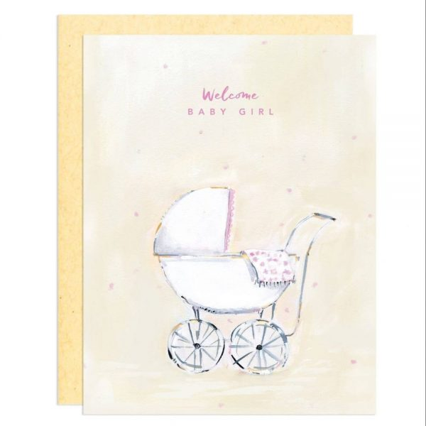 Greeting Card - Welcome Baby Girl
