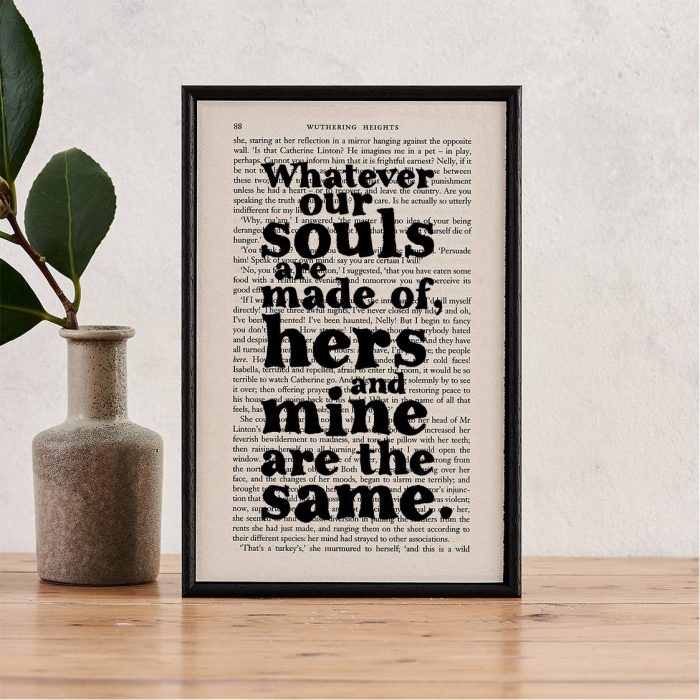 Withering Heights Framed Quote
