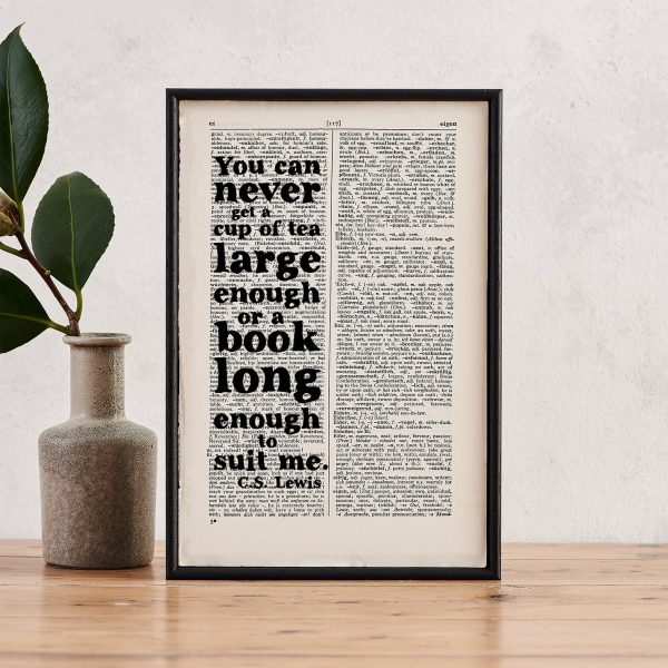 CS Lewis framed art