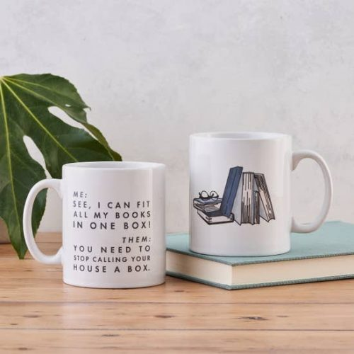 Mug - I can fit all of my books in a box